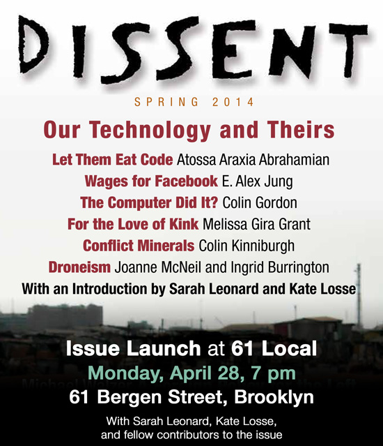 Dissent Spring Issue Launch