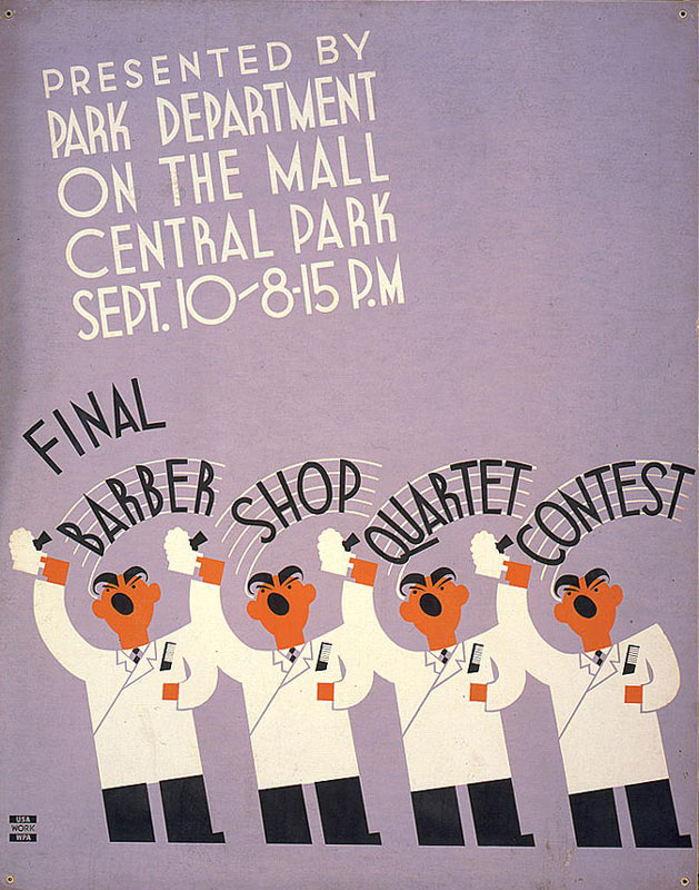 Barber Shop Quartet Contest - WPA