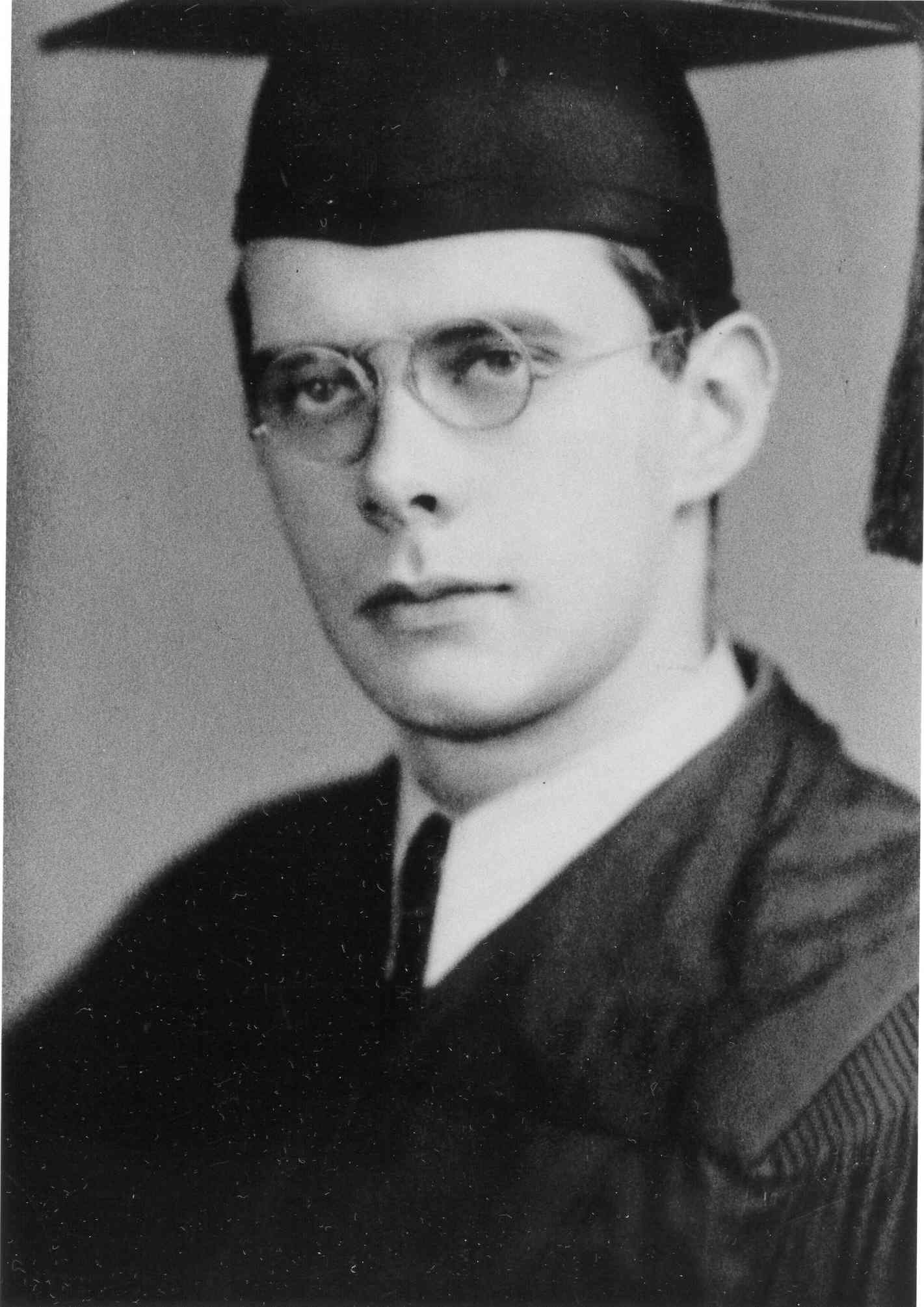 Irving Howe upon his graduation from CCNY.