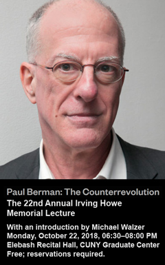 Paul Berman | 22nd Annual Howe Memorial Lecture