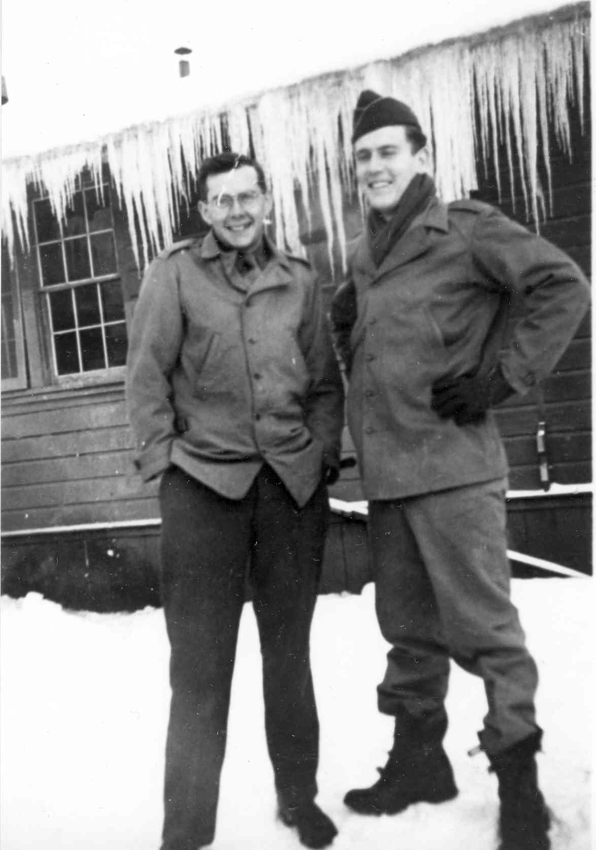 Irving Howe (left) in Alaska, early 1940s.