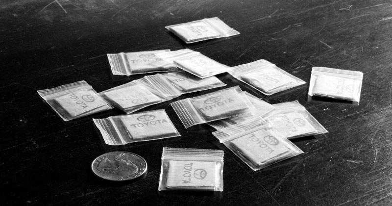 Heroin bags