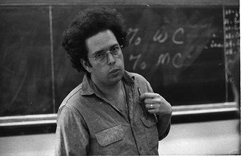 Graduate student Marshall Berman, shown here at Harvard in 1968, was alienated by the editors' positions on the Vietnam War.