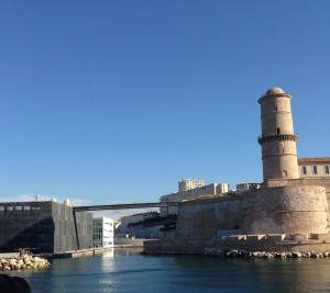 Mucem and Fort Saint Jean, entry to Port of Marseille 2014