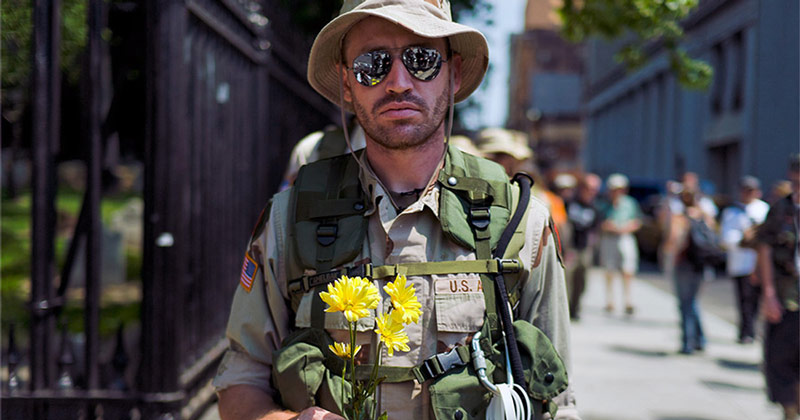 Brazilian military men plow outdoors