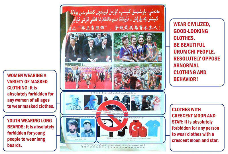 A Project Beauty poster that was posted throughout the Uyghur neighborhoods of Ürümchi at the beginning of the People's War on Terror