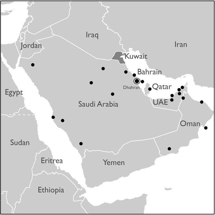 Major Coalition Bases in the Gulf War