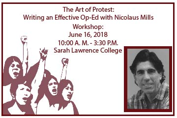 The Art of Protest | Workshops at Sarah Lawrence June 16